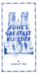 Booklet: Rome's Greatest Blunder