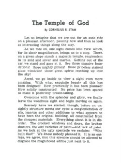 Booklet: Temple of God