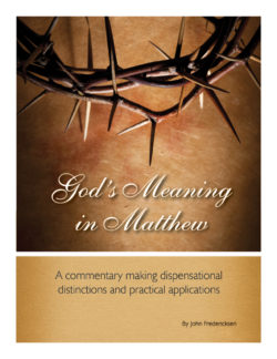 Paperback: God's Meaning in Matthew