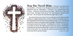 Tract: You Do Need Him