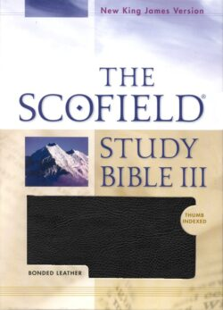 Bible: NKJV Scofield Study Bible III, Bonded Leather, Thumb Indexed  Black 471RRL
