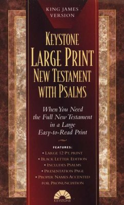 Bible: KJV Keystone Large Print New Testament with Psalms, Black im lthr pb