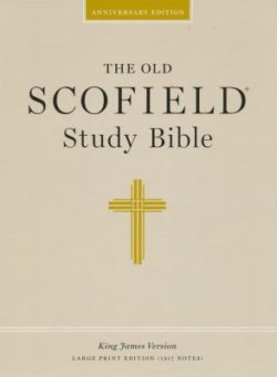 Bible: KJV Old Scofield Study Bible, Genuine Leather, Large Print Edition  Black 394RRL