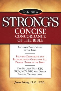 Paperback: New Strong's Concise Concordance of the Bible