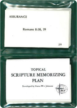 Scripture Memorization: Topical Scripture Memorizing Plan #1