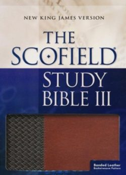 Bible: NKJV Scofield Study Bible III, Brown/Tan Bonded Leather, Thumb Indexed  Black 471RRL  75543
