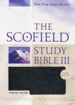 Bible: NKJV Scofield Study Bible III, Black Genuine Leather, Thumb Indexed   474RRL  275365