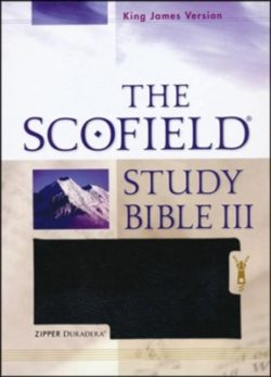 Bible: KJV Scofield Study Bible III, Imitation Leather Duradera, Zipper  Black 522RRLZ  78671