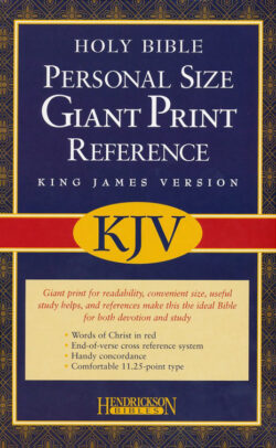 Bible: KJV Personal Reference Bible, Giant Print, Imit. Leather/Black  560956