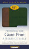 Bible: KJV Personal Size Giant Print Reference Bible, imitation leather, brown/green  706804