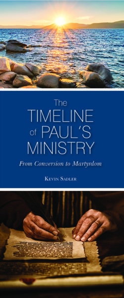 Fold-Out Chart: The Timeline of Paul's Ministry, Conversion to Martyrdom (Package of 25)